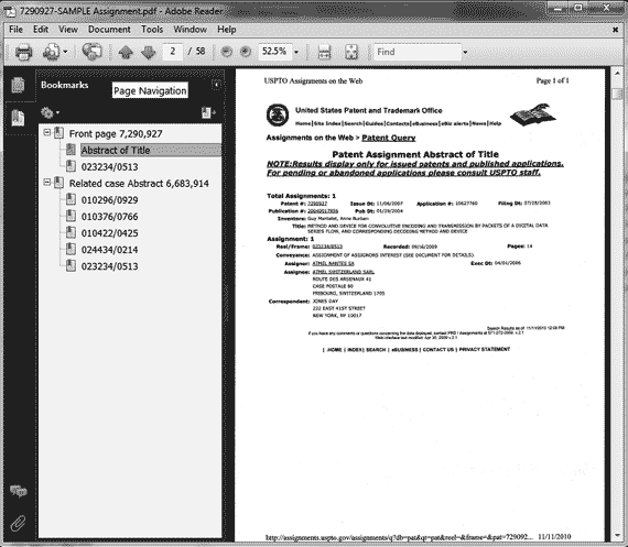Digital Patent Services – Sample Case File